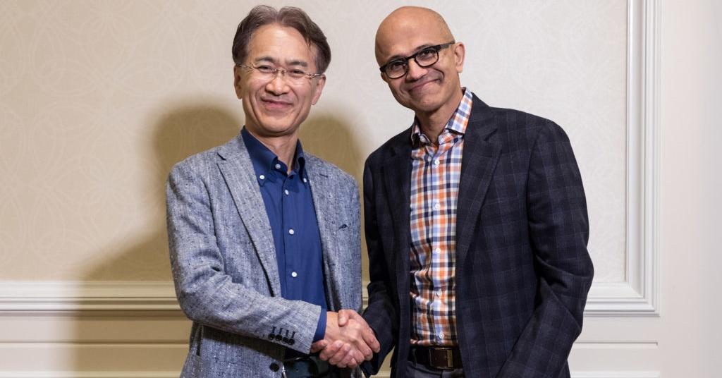 マイクロソフトとソニーがタッグ、AIや半導体、クラウドゲームで