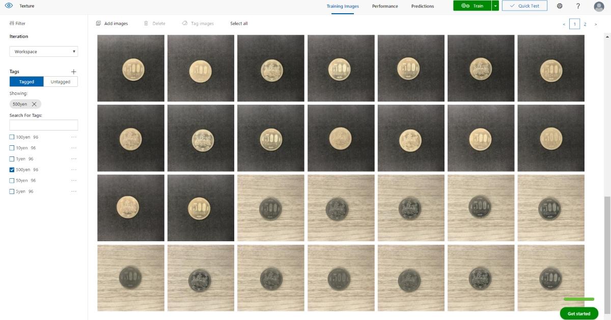 500円玉の識別率は背景が黒か白かで変わるか、MSのクラウドAIで試してみた