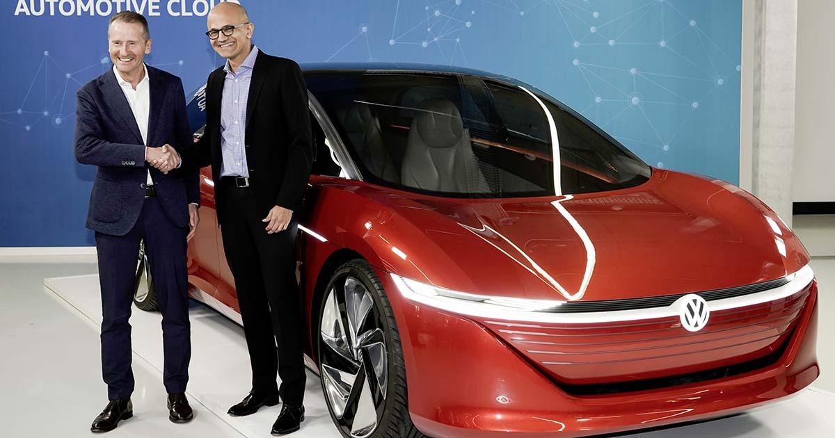VWがMSと戦略提携、コネクテッドカー向けクラウドにAzure採用