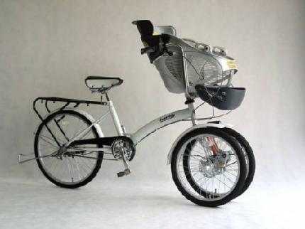 幼児2人を乗せられる自転車の ...