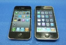 左がiPhone4,右がiPhone3GS