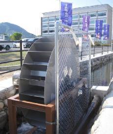 周流型水車による小水力発電設備(出所:宍粟市) 周流型水車による小水力発電設備(出所:宍粟市)