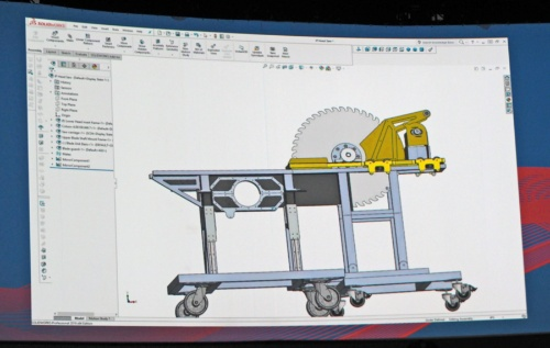 図1 SOLIDWORKSでIllusion Projects社が設計した機械