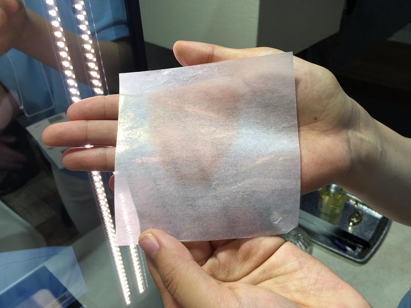 印刷して肌に貼る、オーダーメイドのシミ隠しシート , 日経テクノロジーオンライン