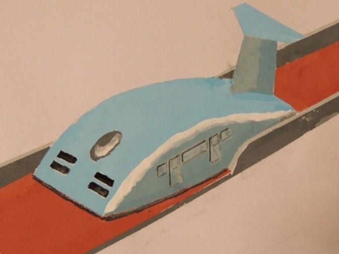 空力で30cm上空を飛ぶ「エアロトレイン」構想