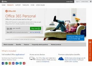 Office 365 Personalのページ
