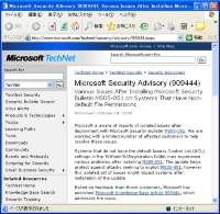 Microsoft Security Advisory (909444)