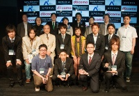 Android Application Award 2010 Springの大賞、優秀賞の受賞者と審査員(撮影:菊池くらげ)