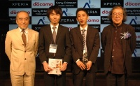 Android Application Award 2010 Springの大賞を受賞したタオソフトウェアと審査委員長の日本Androidの会 会長 丸山不二夫氏