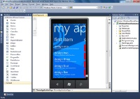 Visual Studio 2010 Express for Windows Phoneの画面例