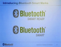 Bluetooth SmartロゴとBluetooth Smart Readyロゴ