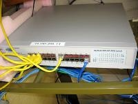 PoEスイッチ Nortel BayStack 460-24T-PWR Switch(写真提供:大館市)