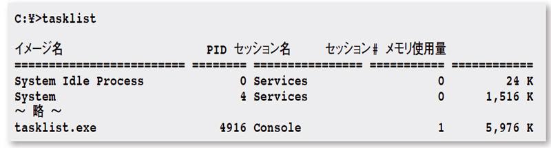 tasklist ps 実行中のタスク プロセスを表示 日経 xtech クロス