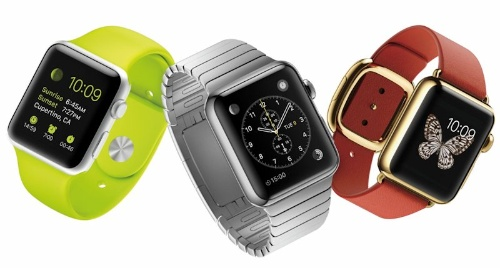 写真●左から「Apple Watch Sport」「Apple Watch」「Apple Watch Edition」