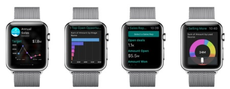 写真●「Salesforce Analytics Cloud for Apple Watch」のイメージ