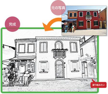 3応用こんなこともできる写真を塗り絵風にする 日経 Xtech