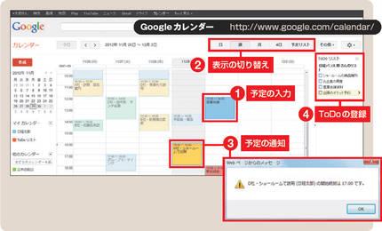 図1 Googleカレンダーのメイン ... : pc キーボード 使い方 : すべての講義