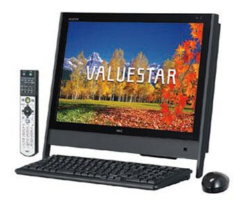 拡大表示 手ごろな価格で、スリムなテレビパソコン。テレビ機能は地デジとアナログのダ... パソコ