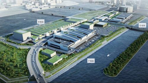 豊洲新市場の完成イメージ(資料:東京都)