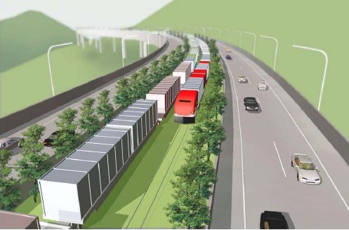 高速道路の中央分離帯を貨物列車が無人走行、物流の新構想を発表 ...