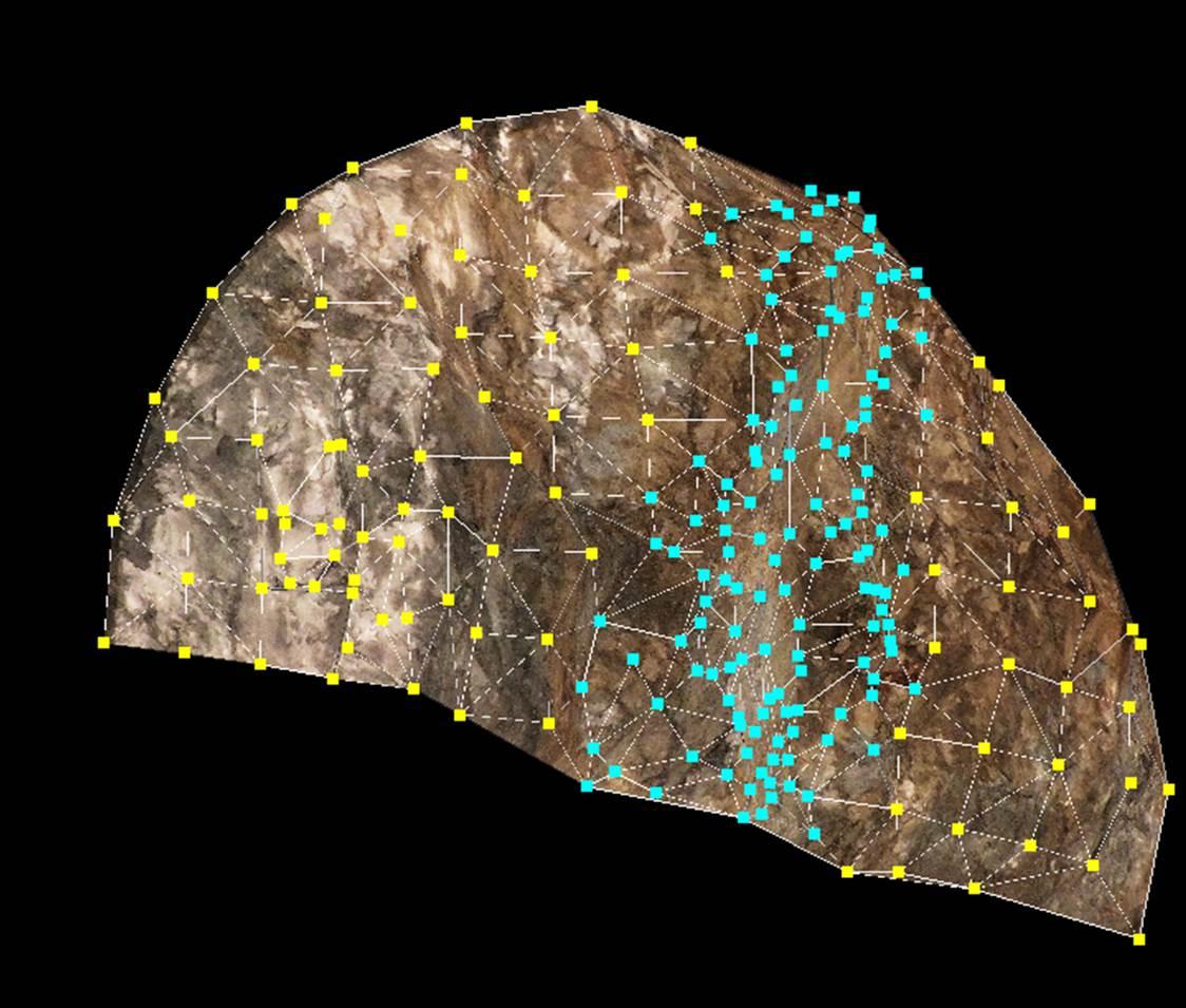 ステレオ写真測量で切り羽を観察