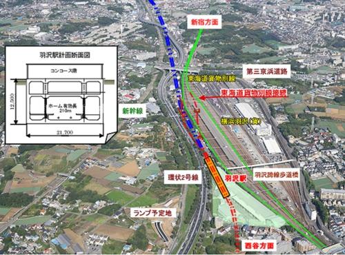 <相鉄直通線>羽沢横浜国大駅の建設は順調、JR側 …